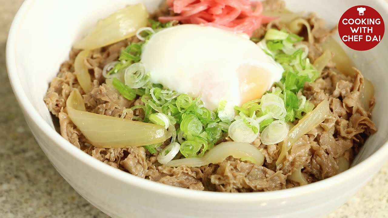 GYUDON RECIPE (JAPANESE BEEF BOWL)牛丼COOKING WITH CHEF DAI