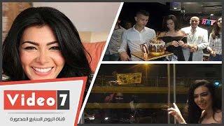 بالفيديو.. محبو ميريهان حسين يحتفلون بميلادها برفع صورتها على كوبرى بمصر الجديدة
