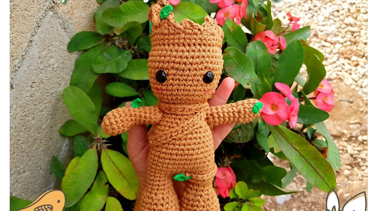 Making Baby Groot - Crochet Tutorial // duchessofcrafting - YouTube | 720x1280