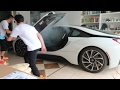 SETTING MY BROTHERS BMW i8 ON FIRE PRANK!!