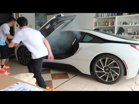SETTING MY BROTHERS BMW i8 ON FIRE PRANK!! | FaZe Rug