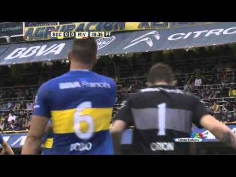Tremendo tiro libre de D'Alessandro - Boca 0 - 0 River - Transición 2016