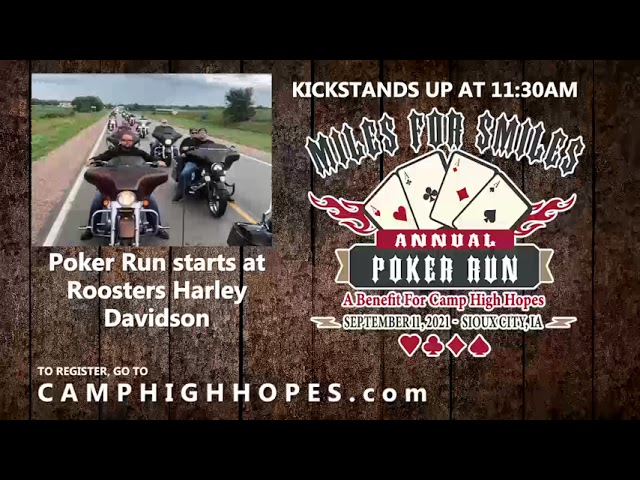4th Annual Miles for Smiles Poker Run and Outdoor Jam is coming up!
