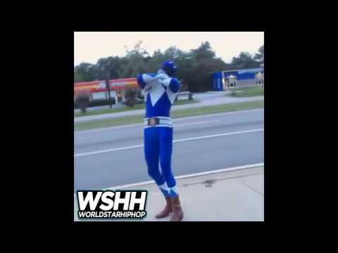 Power Rangers ( Turnt up Blue Ranger)