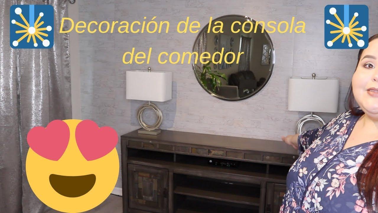Decoración consola comedor- ideas #poniendobonitomirinconcito