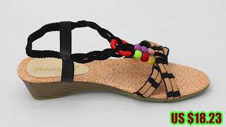 Flat Sandals Spring Fashion Soft sole Shoes women.mp4