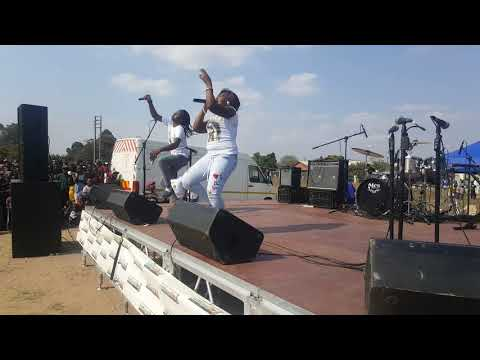 Lady squanda performe her New album Reality in zengeza national fm road show [SparksRecordz] 2017