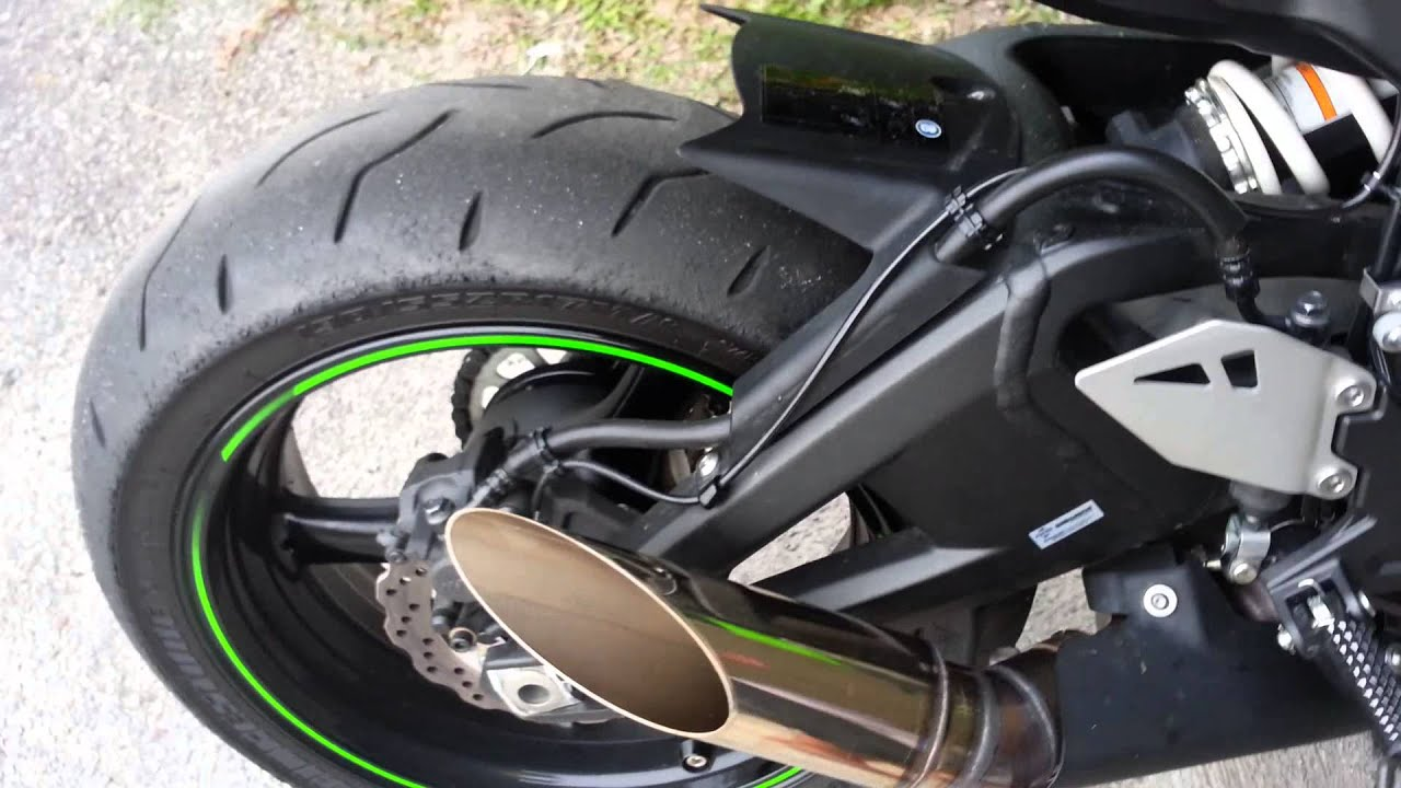 2013 zx10r exhaust sound - youtube