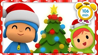 🎄POCOYO in ENGLISH - Decorate The Christmas Tree [106 min] Full Episodes |VIDEOS & CARTOONS for KIDS