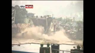 Uttarakhand, India: Flood Deaths As Homes Fall Into River