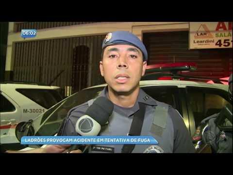 Perseguição policial acaba em acidente em Mauá (SP)