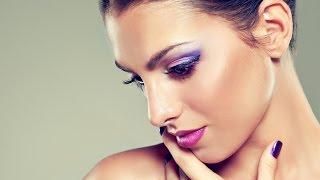 ❀Фиолетовый макияж/Красивый макияж для карих глаз❀