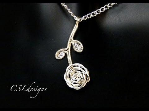 Rose wirework pendant ⎮ Valentine's Day