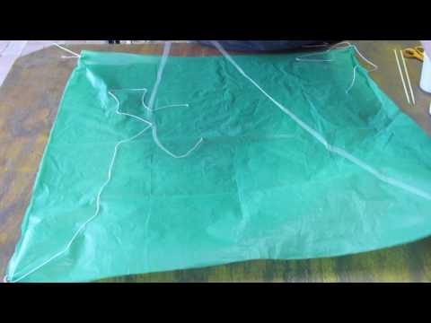 DIY  eggdrop parachute
