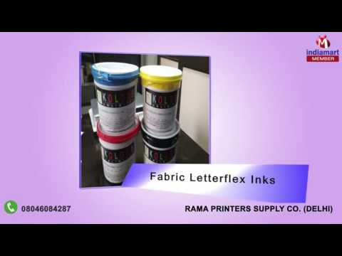 Printing Inks and Material By Rama Printers Supply Co, Delhi