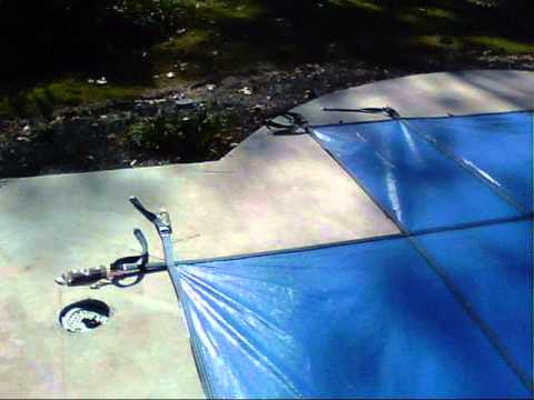 Diy Safety Pool Cover Installation Youtube