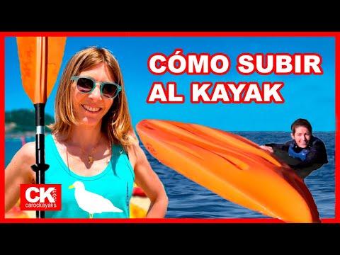Cómo subir al kayak