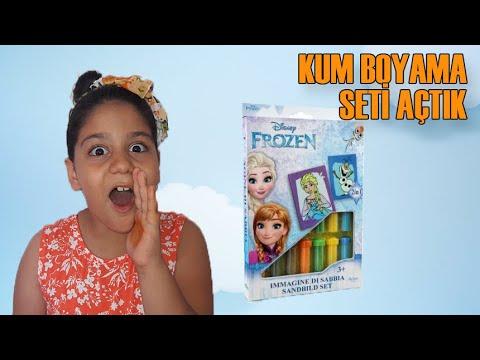 Download Karlar Kraliçesi Elsa Kum Boyama Yaptık Lera Ile Yarıştık