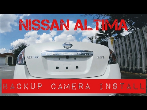Nissan Altima Backup Camera Install