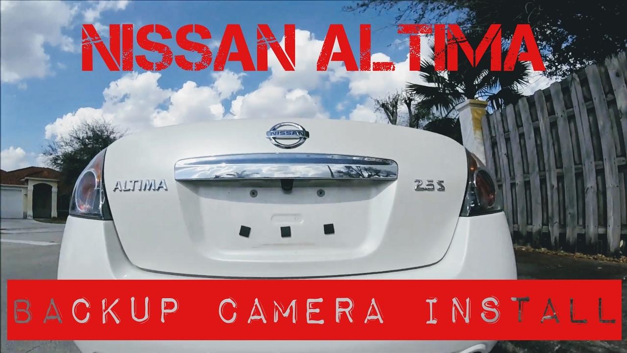 Nissan Altima Backup Camera Install