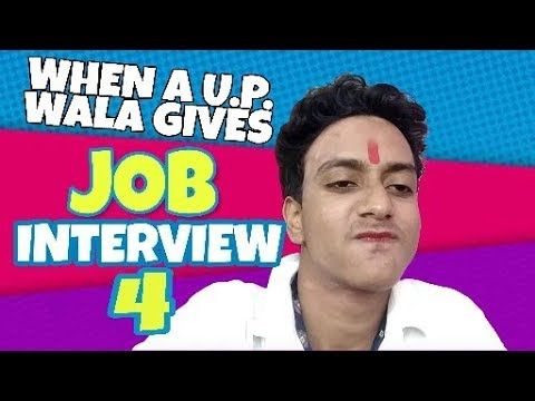 When A U.P. Wala Appears For A JOB INTERVIEW | Himanshu Ki Comedy