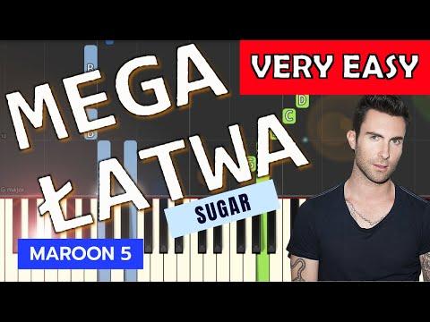 🎹 Sugar (Maroon 5) - Piano Tutorial (MEGA ŁATWA wersja) (VERY EASY) 🎹