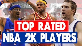 Can i name the top 20 rated players in every 2k game?