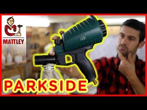 🔥FAI DA TE : Pistola sabbiatrice Parkside PDSP 1000 B2 - LASCIALA PERDERE