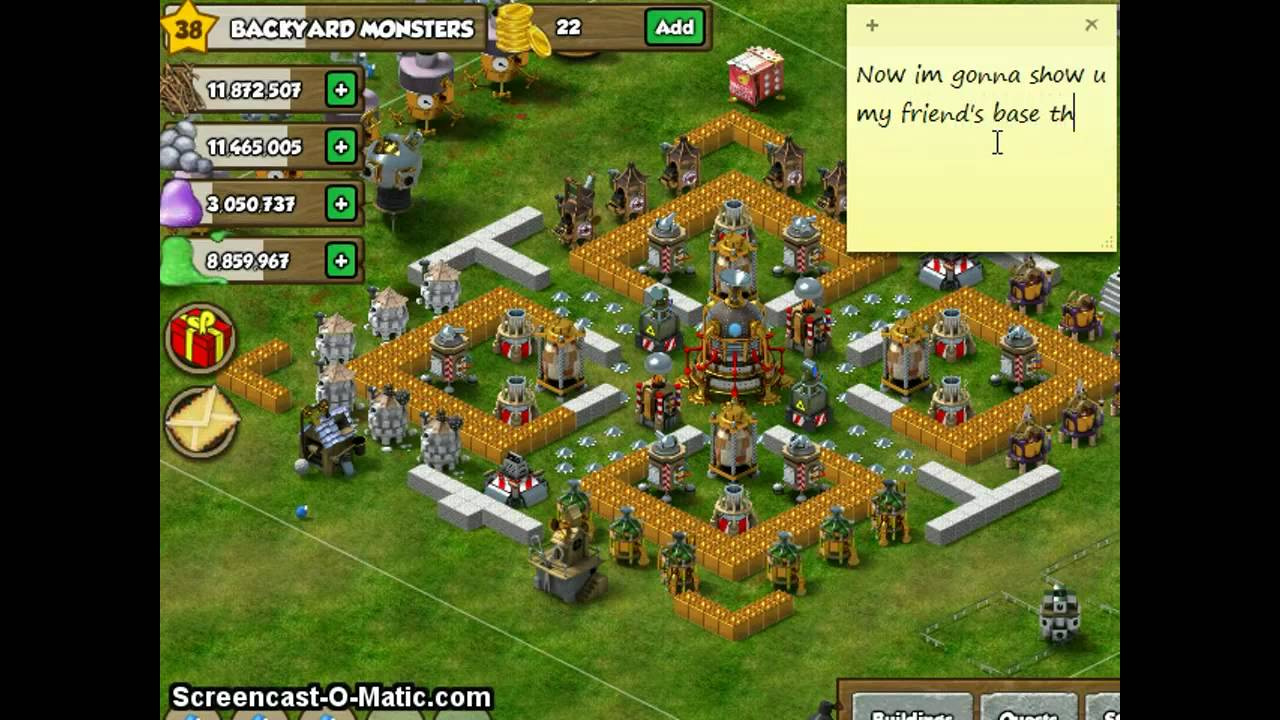Backyard Monsters Base best backyard monsters base - youtube