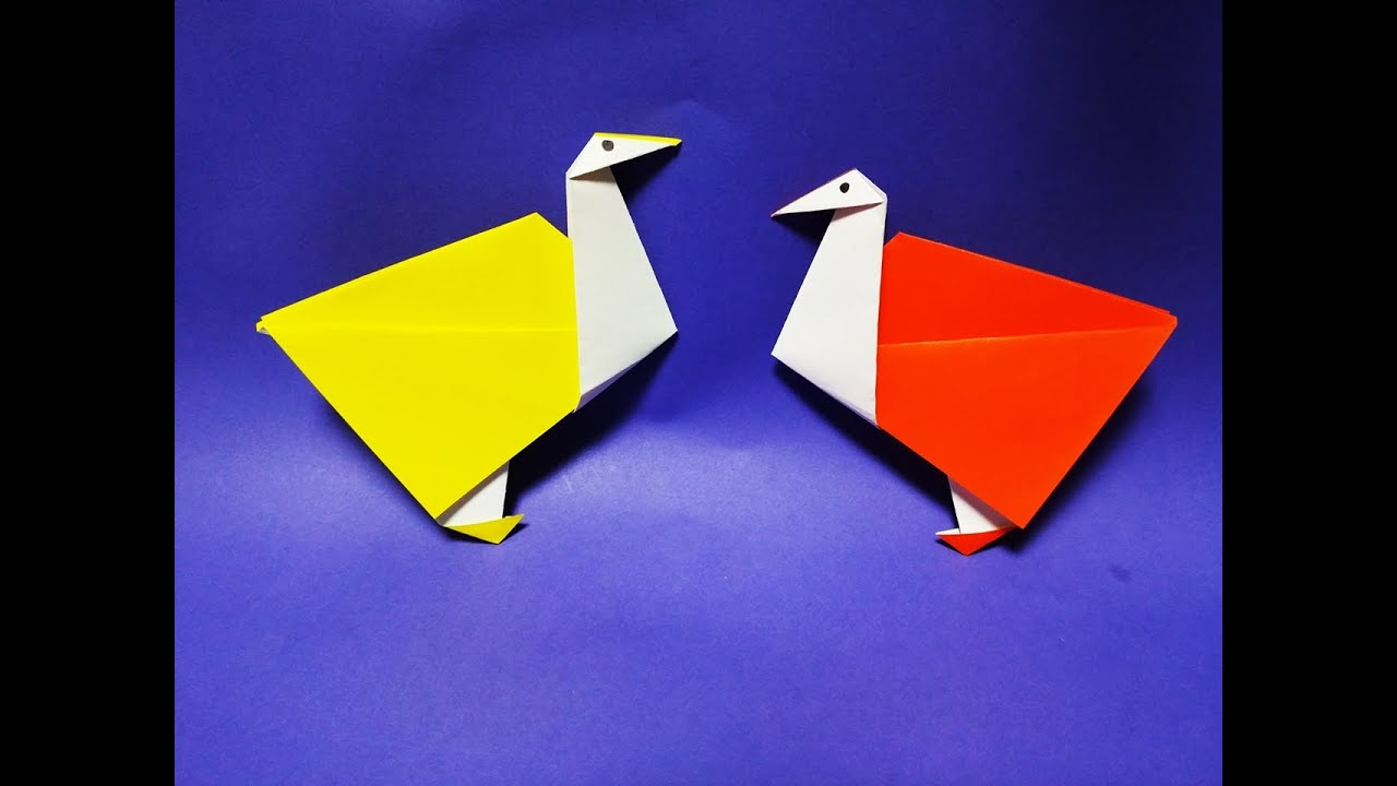 how to make easy paper origami ostrich youtube jeuxipadfo Choice Image