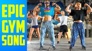 """Gym Workout Song """"Guns, Shields, Abs n' Wheels"""" by Buff Dudes"""