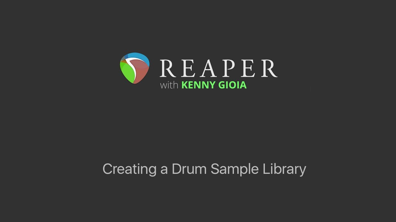 Creating a Drum Sample Library in REAPER