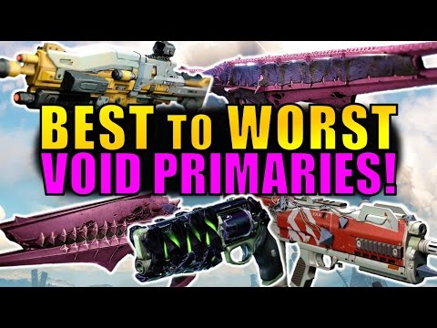 Destiny: BEST to WORST Void Primary Weapons! | Age of Triumph