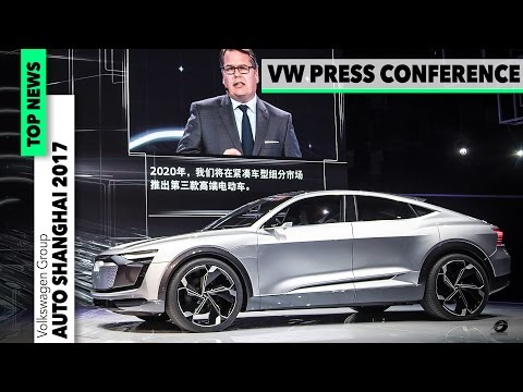 VW PRESS CONFERENCE Auto Shanghai 2017: LAMBORGHINI - PORSCHE, BENTLEY, AUDI, VW, DUCATI [GOMMEBLOG]