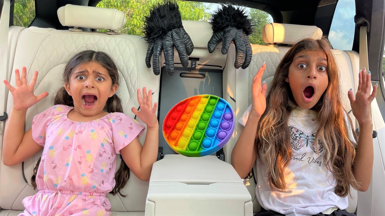 Deema and Sally with Monster in the car stories 2