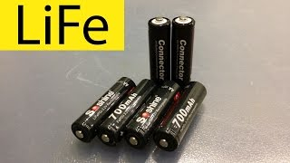 Аккумулятор Soshine LiFePO4 3,2V 14500 (AA). Емкость при токе разряда 0,2С.