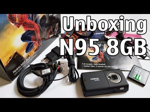 Nokia N95 8GB Spider-Man 3 Edition Unboxing 4K with all original accessories Nseries RM-320 review