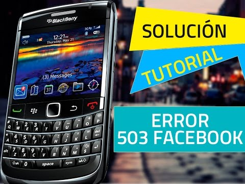 Error 503 en chat de facebook - Blackberry