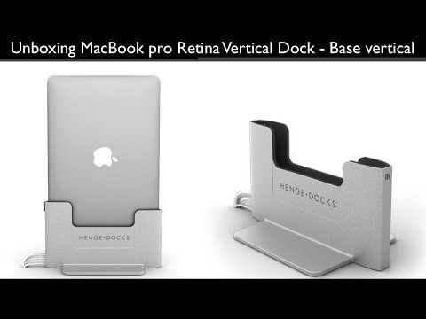 Unboxing MacBook pro Retina Vertical Dock - Base vertical con cables