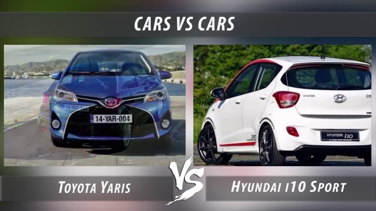 toyota yaris vs hyundai i10 sport youtube. Black Bedroom Furniture Sets. Home Design Ideas