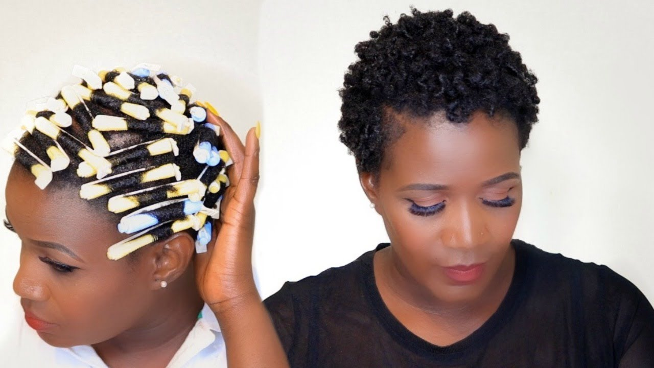 PERM ROD SET ON SHORT 4C NATURAL HAIR