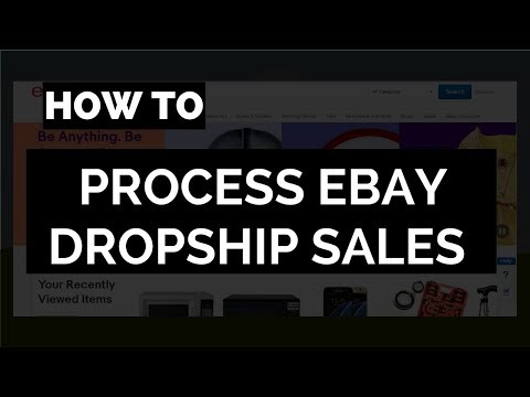How to Ship an Order When You Dropship or Sell on eBay - Order Processing
