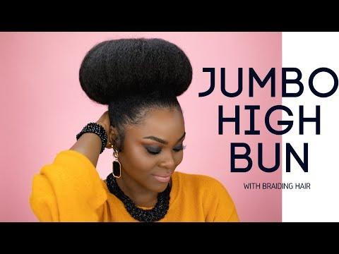 Jumbo Hair Braided Bun