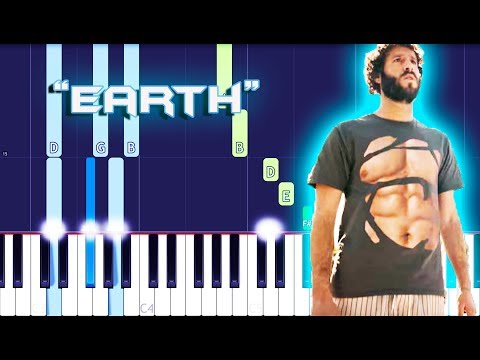Lil Dicky - Earth Piano Tutorial EASY