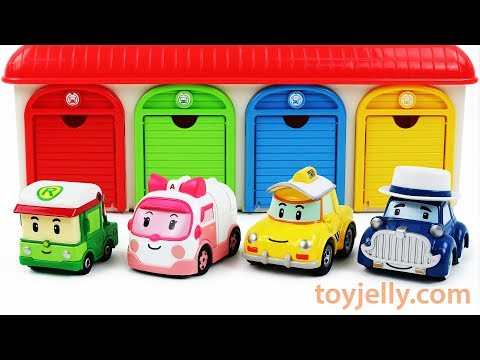 Learn Colors with Cute Baby Car Toys and Garage Parking Playset Kinder surprise Eggs for Children
