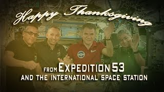 Expedition 53 Thanksgiving Message