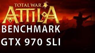 Total War: Attila - Frame Rate Benchmark GTX 970 SLI mit Grafikvergleich