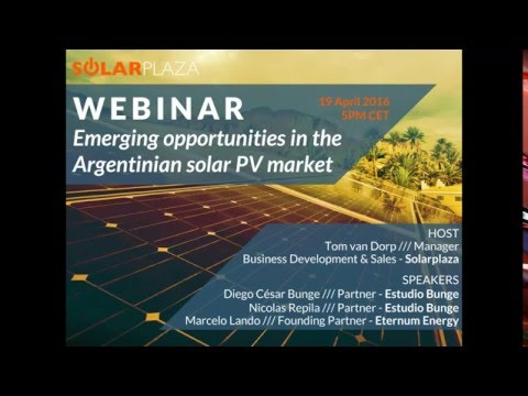 Webinar: Emerging Opportunities in the Argentinian Solar Market