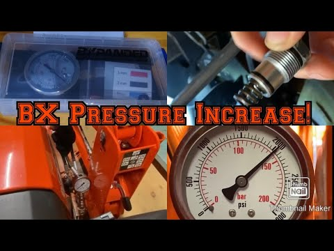 More Power For Kubota Bx (Pressure Relief Valve) -How To