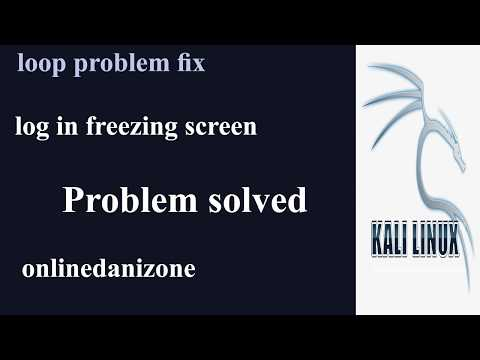 Fix Kali Linux Login Loop Problem | Login Black Screen | Freezes After Login